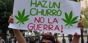Mexican cannabis protestor