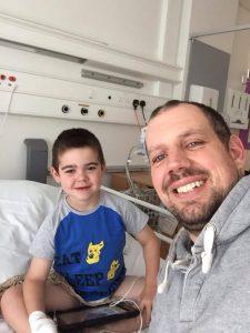 medical cannabis patient, Alfie Deacon, in hospital