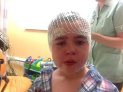 Alfie Dingley in hospital