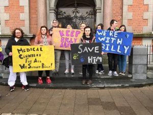Protestors supporting Billy Caldwell