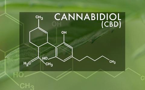 molecule of medical cannabis