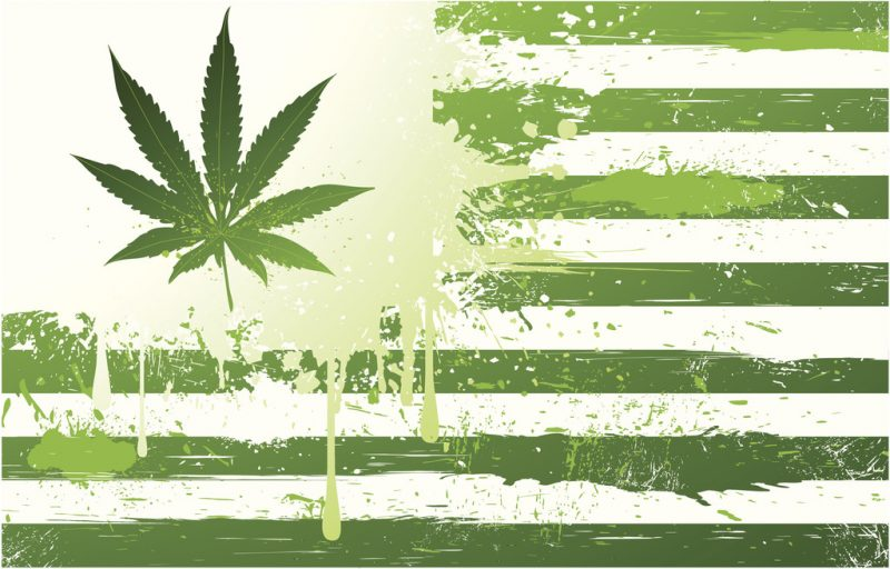 US marijuana flag