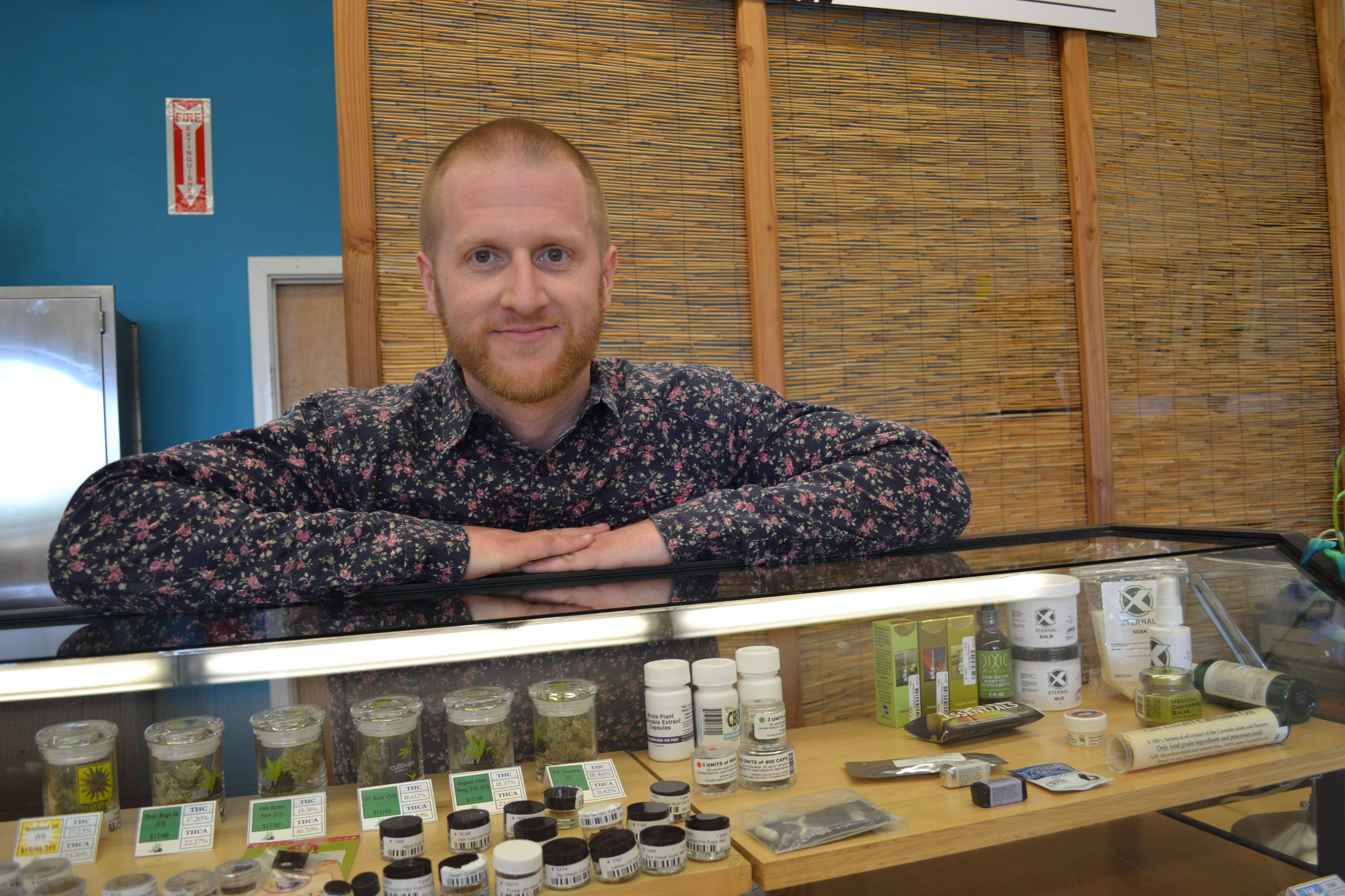 happy cannabis worker