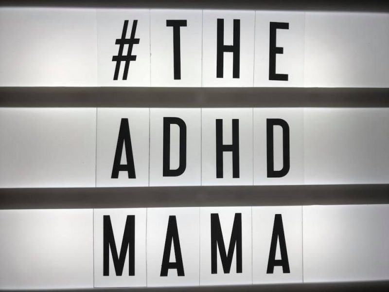 Lightbox with ADHD MAMMA written