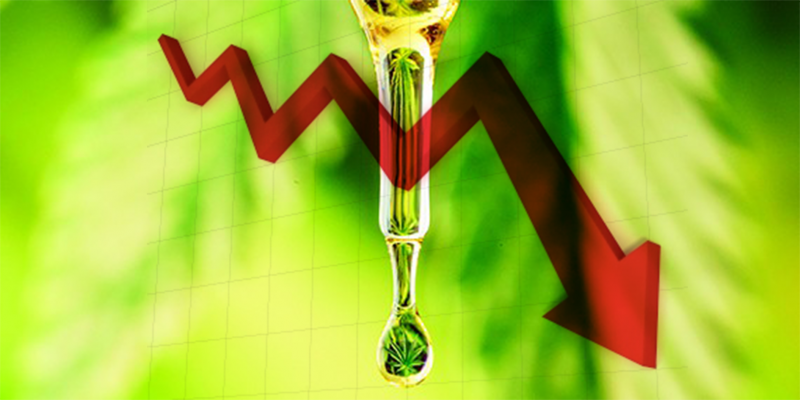 CBD oil stock price fall
