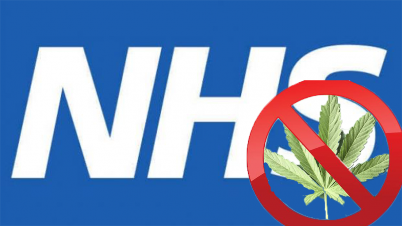 Cannabis sign NHS logo