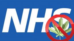 Cannabis sign NHS logo