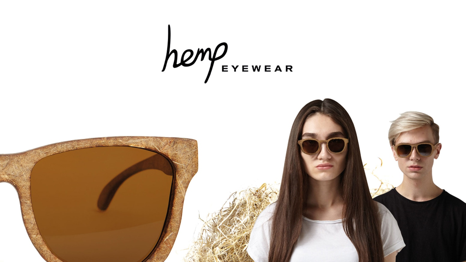 Sunglasses made from Hemp with models