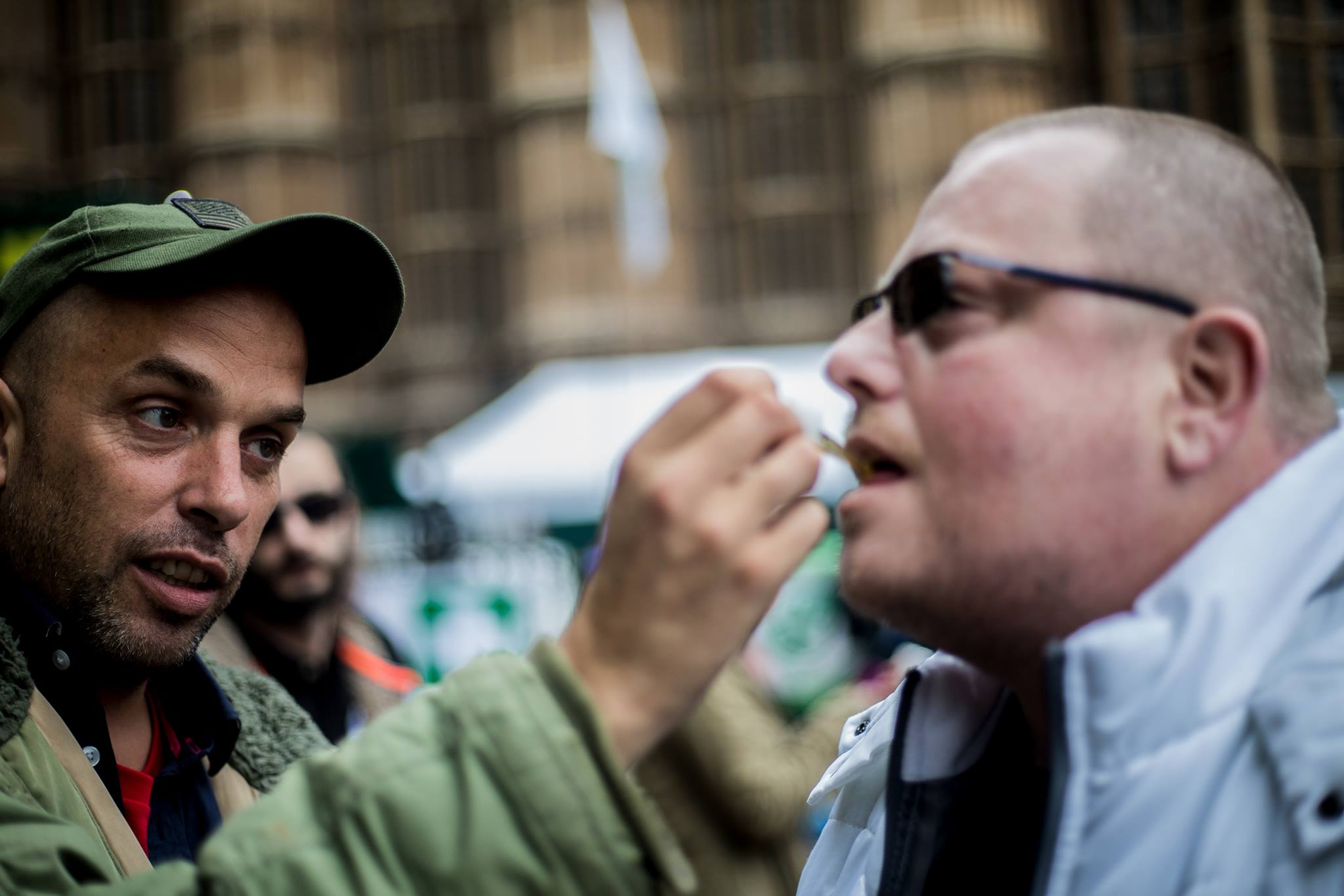 Medical cannabis patients and activists outside London