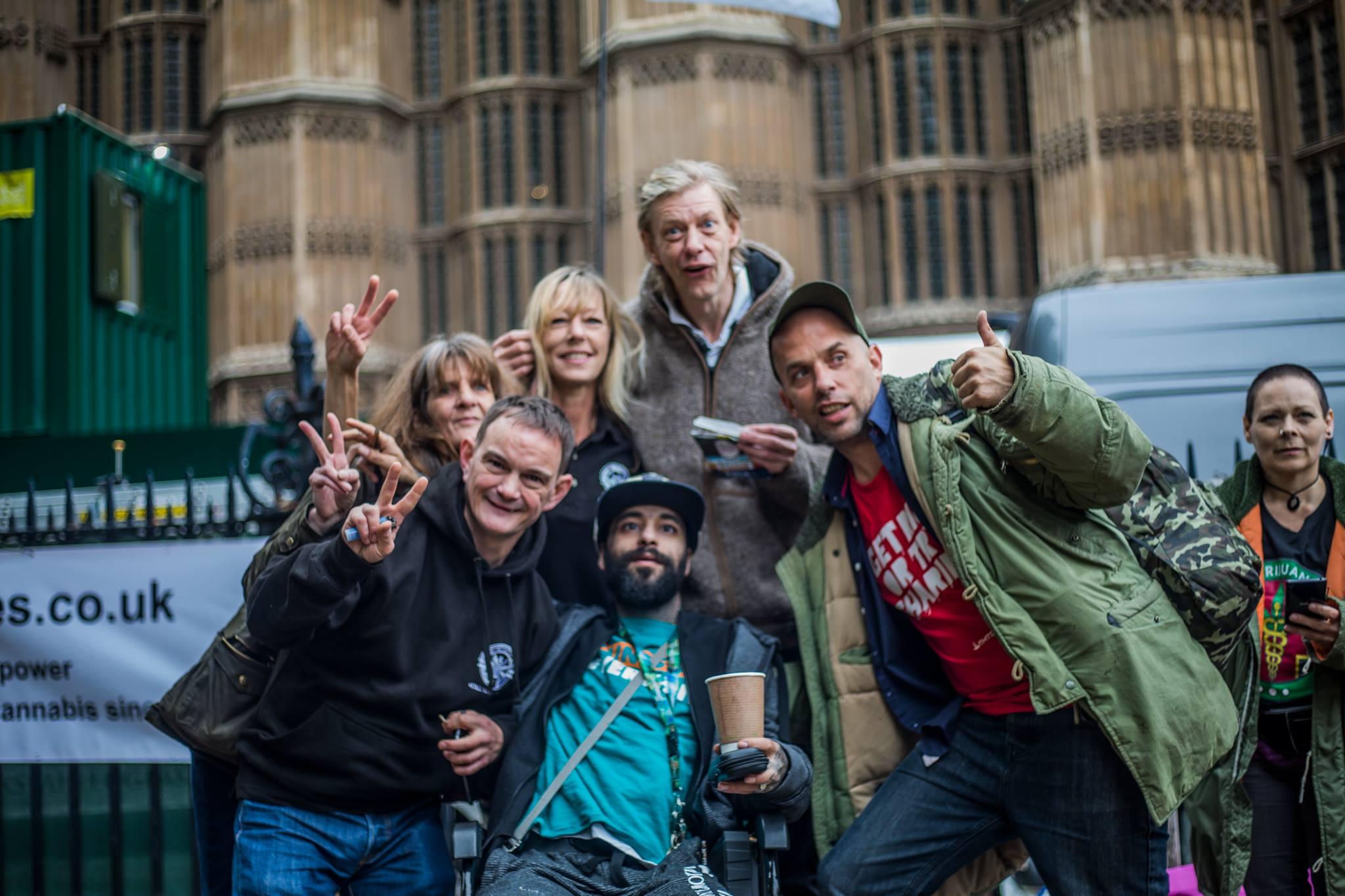 Medical Marijuana UK at Patients at Parliament London