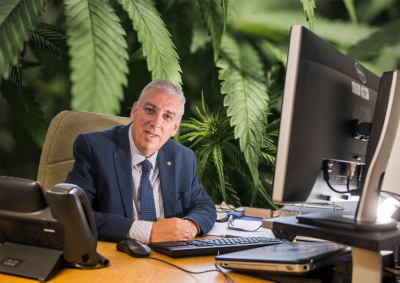 Police Crime Commissioner for North Wales, Arfon Jones, advocating for cannabis regulation,