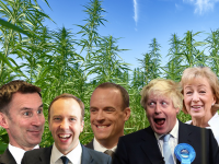 Conservative Members of Parliament, Boris Johnson, Andrea Leadsome, Matt Hancock, Dominic Raab, Jeremey Hunt, all admit they have used cannabis