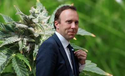 British Health Secretary Matt Hancock announcing medical cannabis trials
